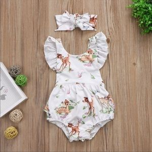 Other - ✅JUST IN✅ 🎉HP🎉 Bambi Romper and Bow
